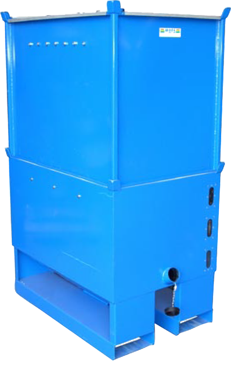 Material container for fork lift handling iceva for Extension en container